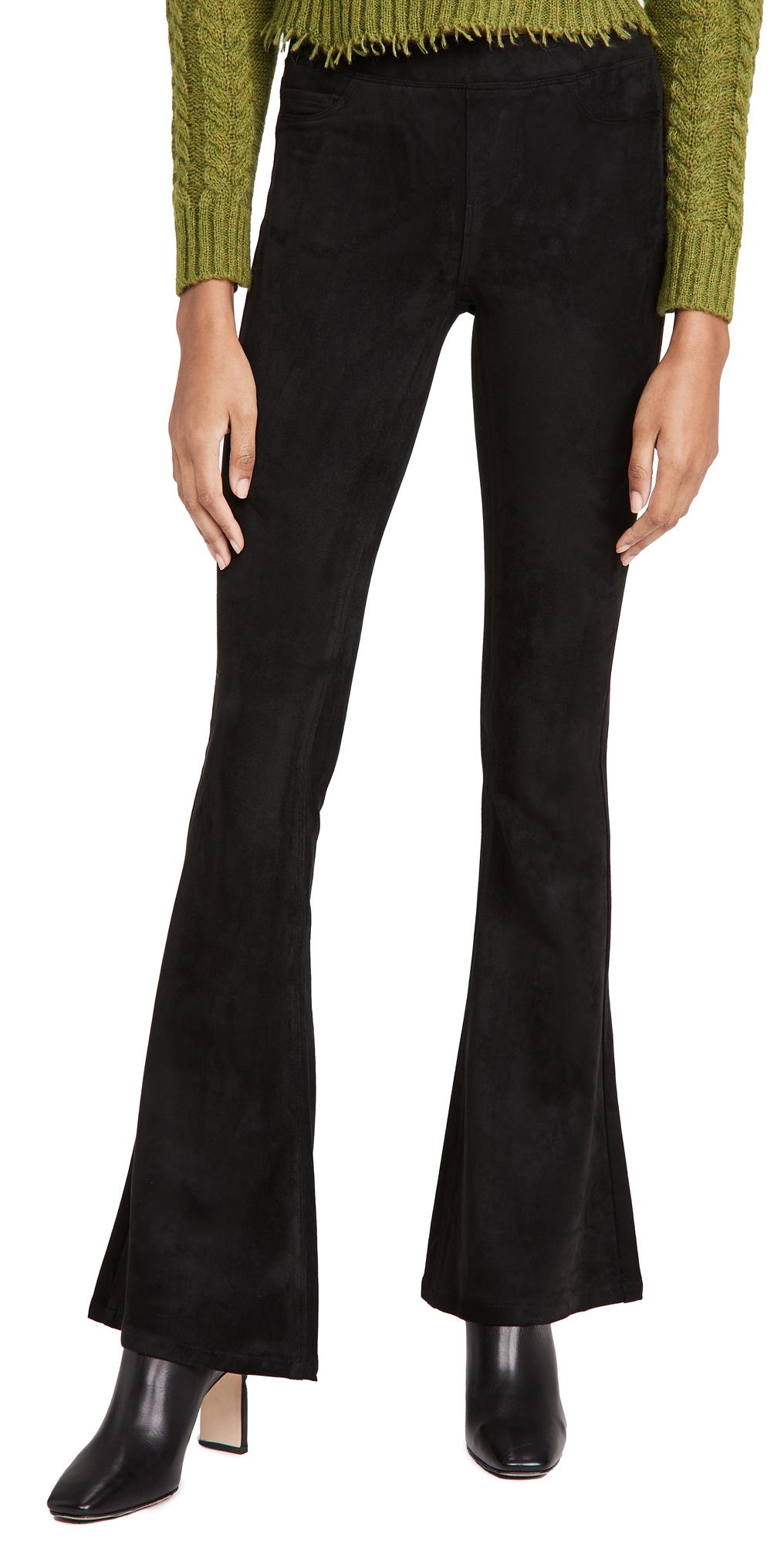 Blank Denim Microsuede Pull On Flare Pants