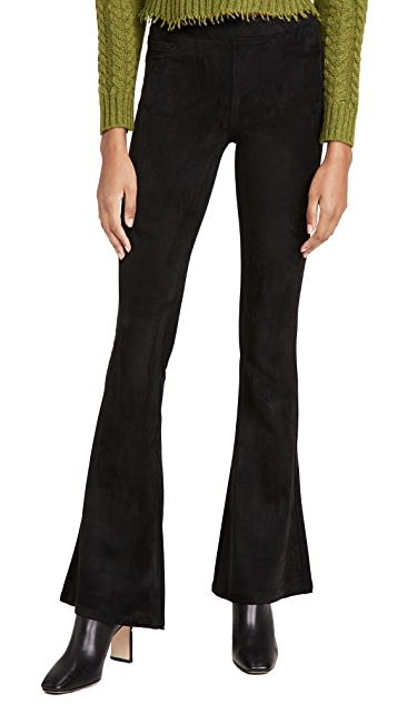 Blank Denim Microsuede Pull On Flare Pants