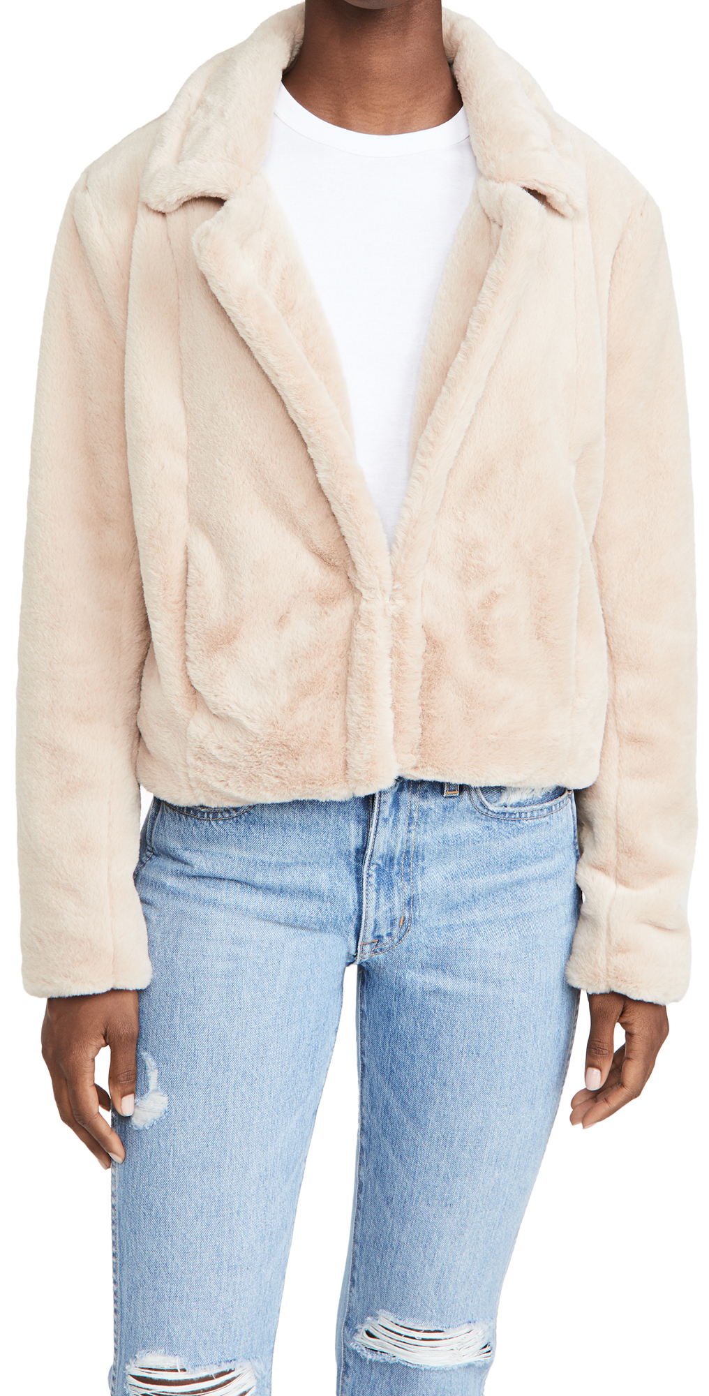 Blank Denim Faux Fur Jacket