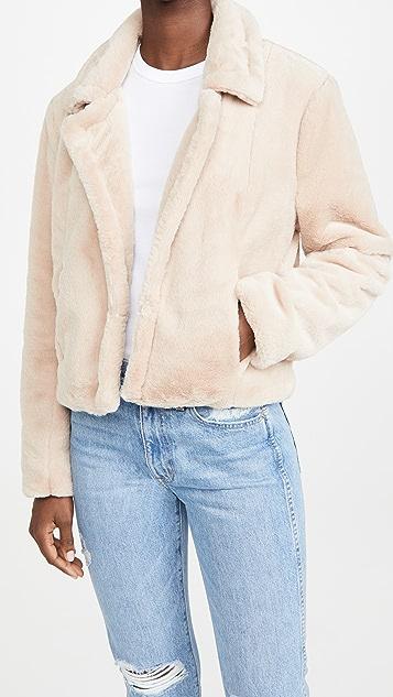 Blank Denim Faux Fur Jacket
