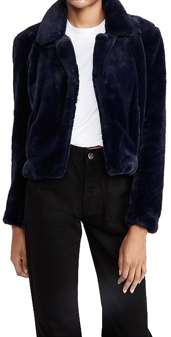 Blank Denim Faux Fur Jacket - Open Seas