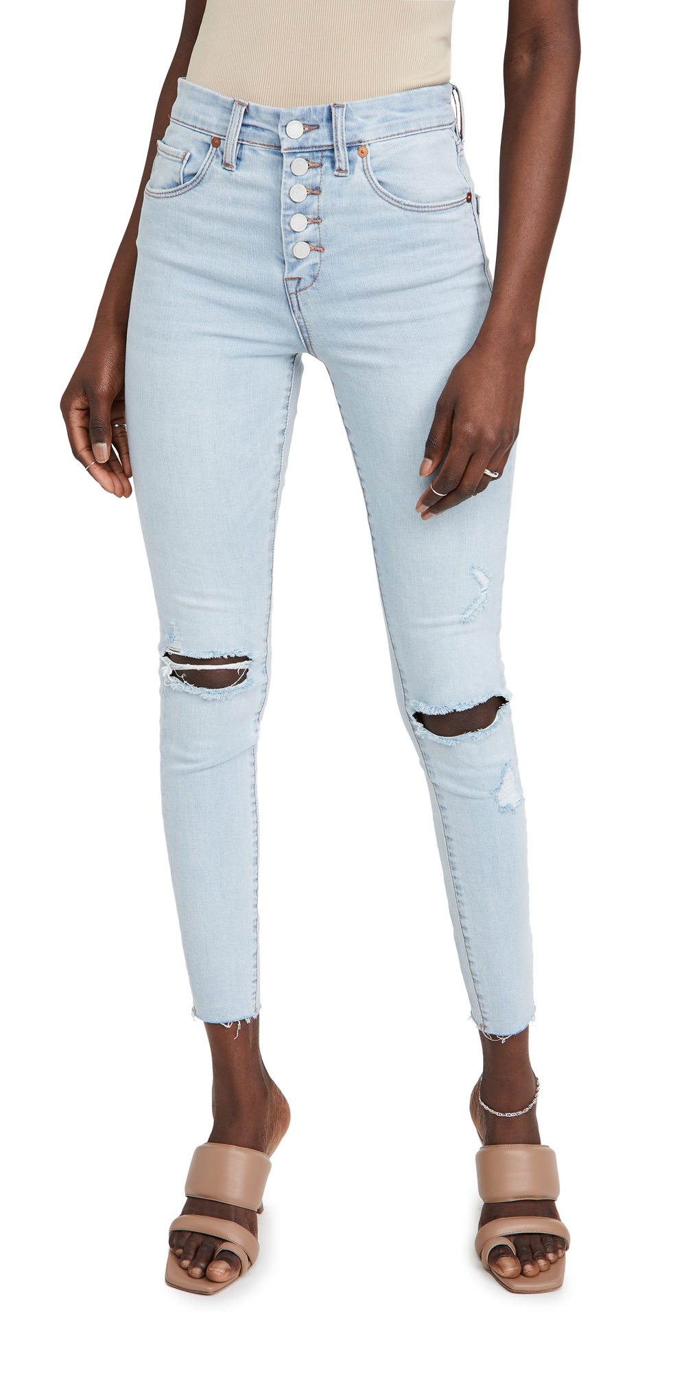 blank denim break the cycle exposed button jeans