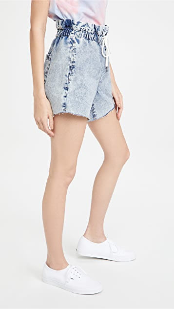 Blank Denim Love On Top Elastic Waist Denim Shorts