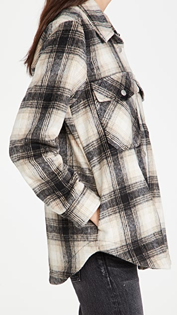 Blank Denim Checked Out 格纹衬衣式夹克
