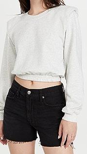 Blank Denim Icicle Shoulder Pad Sweatshirt