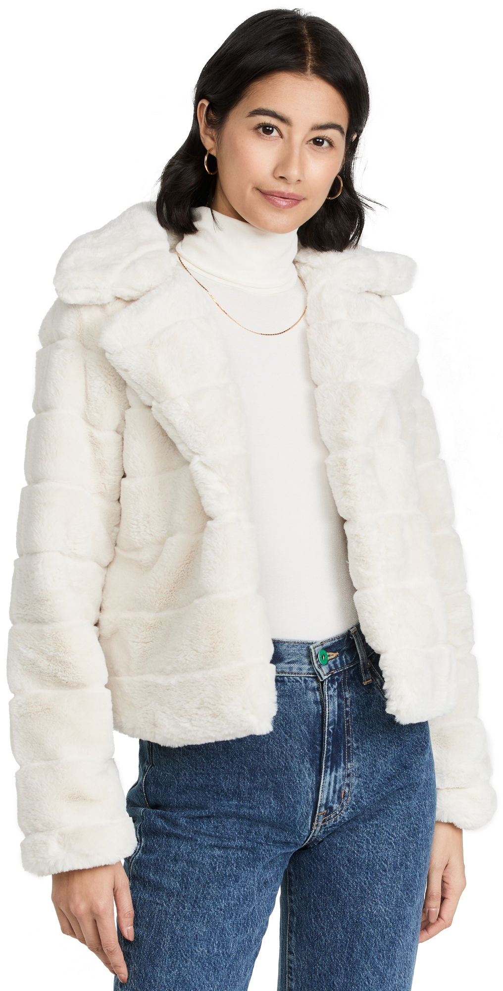 Quilted Fur Coat For Rainy Day