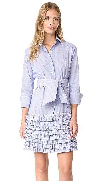 Bell Ruffle Shirtdress