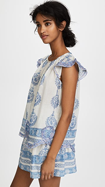 Bell Printed Tunic Top