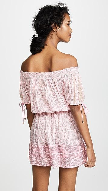 Bell Printed Off Shoulder Dress