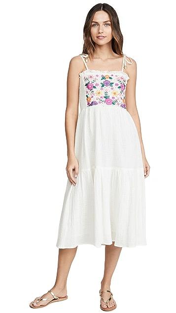 Bell Smocked Midi Dress