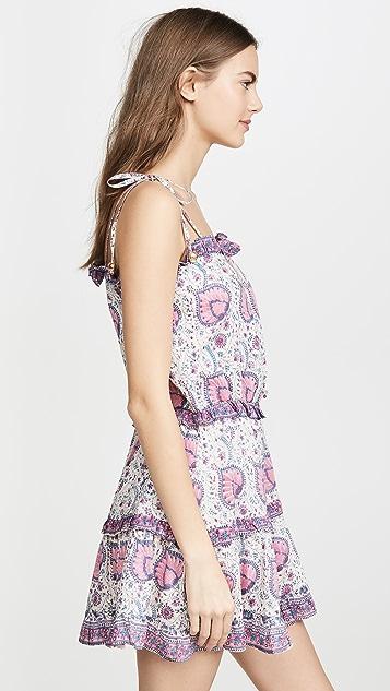 喇叭花紫 Megan 迷你连衣裙