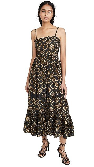 喇叭形 Hannah 连衣裙