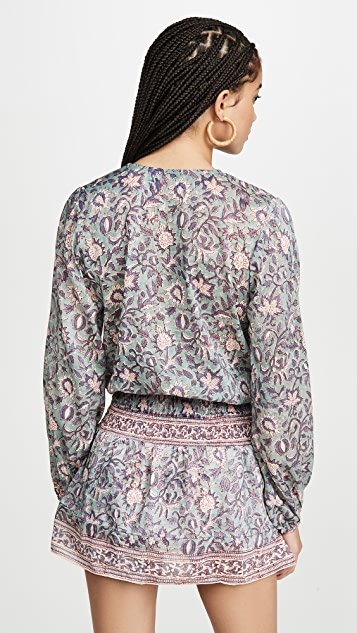 喇叭花紫 Evelyn 连衣裙