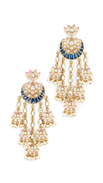 Blossom Box Ornate Imitation Pearl Dangle Earrings