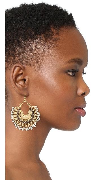 Blossom Box Onyx Chandelier Earrings