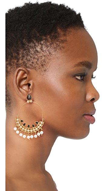 Blossom Box Chandelier Hoop Earrings