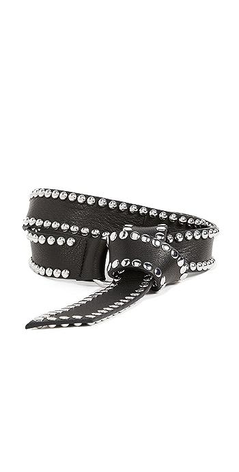 B-Low The Belt Mia Moto Belt - Black/Silver