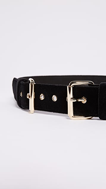 B-Low The Belt Double Buckle Velvet Belt