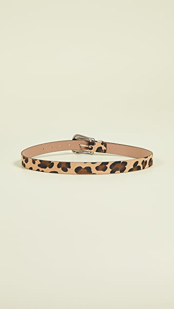 B-Low The Belt Wilder Suede Leopard Belt