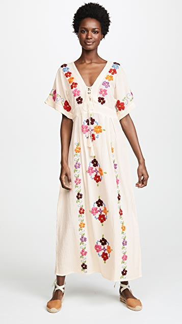 BLUE BOHEME Natural Julia Embroidered Dress