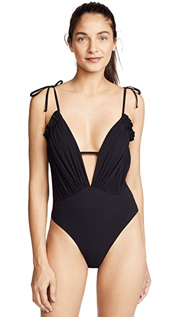 Blue Life Exotica Ruffle Swimsuit