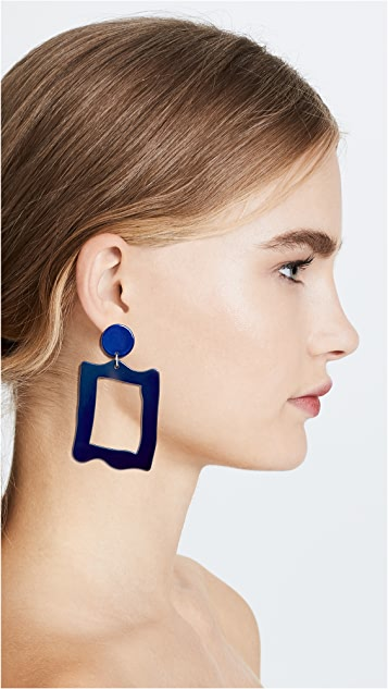 Bianca Mavrick Baroque Frame Earrings