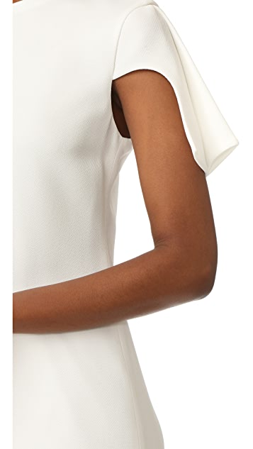 Brandon Maxwell Cap Sleeve Mini Dress