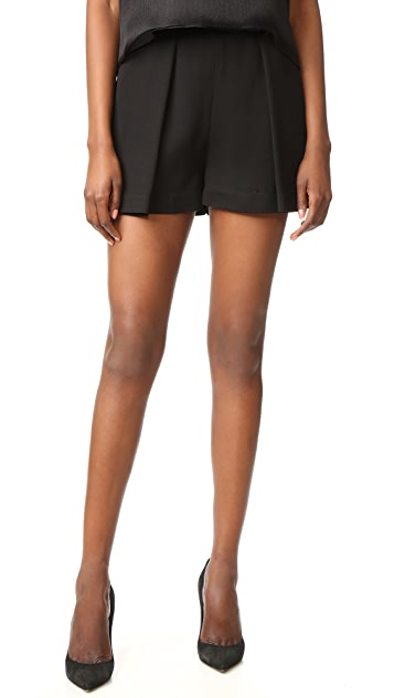 Brandon Maxwell Pleated Shorts