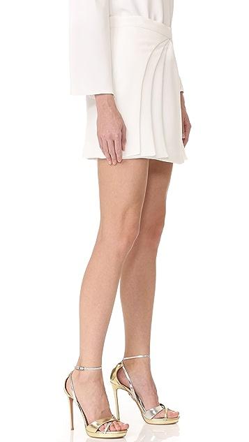 Brandon Maxwell Layered Miniskirt