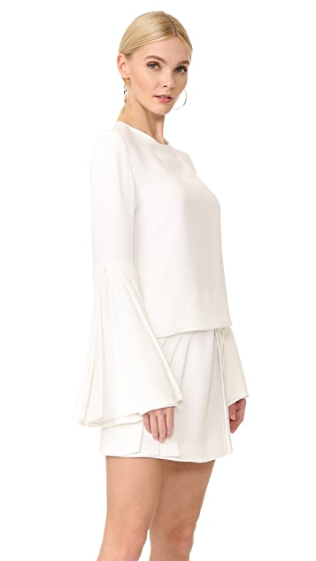 Brandon Maxwell Layered Sleeve Top
