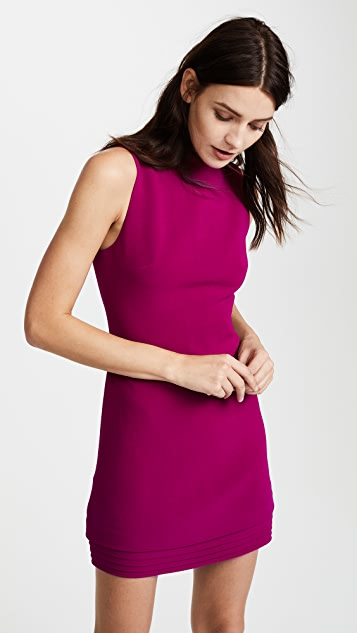 Brandon Maxwell Shift Dress with Layered Hem