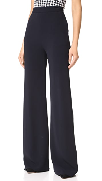 Brandon Maxwell Wide Leg Trousers
