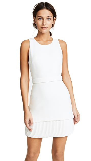 Brandon Maxwell Belted Mini Dress