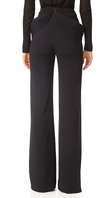 Brandon Maxwell Detailed Pocket Trousers