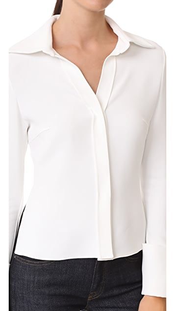 Brandon Maxwell Wide Cuff Blouse