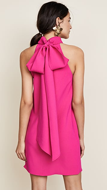 Brandon Maxwell Shift Dress with Bow Back