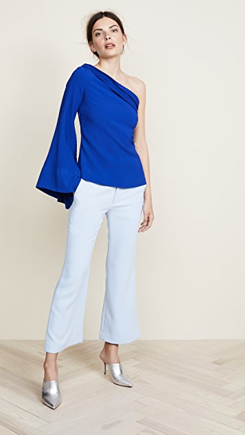 Brandon Maxwell One Shoulder Statement Top