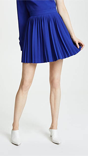 Brandon Maxwell Pleated Miniskirt