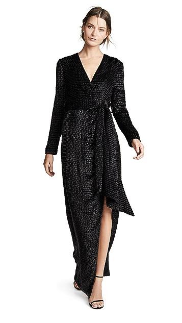Brandon Maxwell Вечернее платье-халат и рукавами