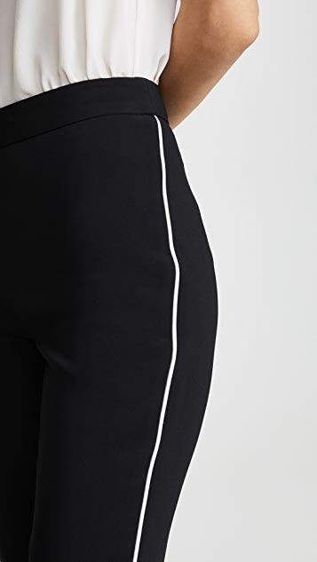 Brandon Maxwell Расклешенные брюки с лампасами