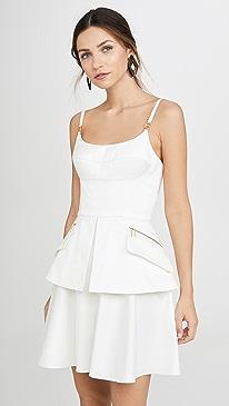 Bustier Mini Dress with Peplum