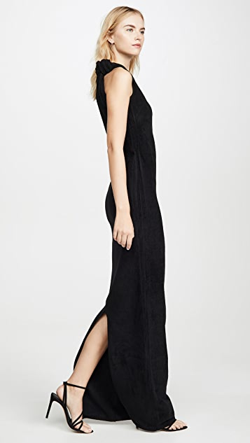 Brandon Maxwell Knotted Top Dress