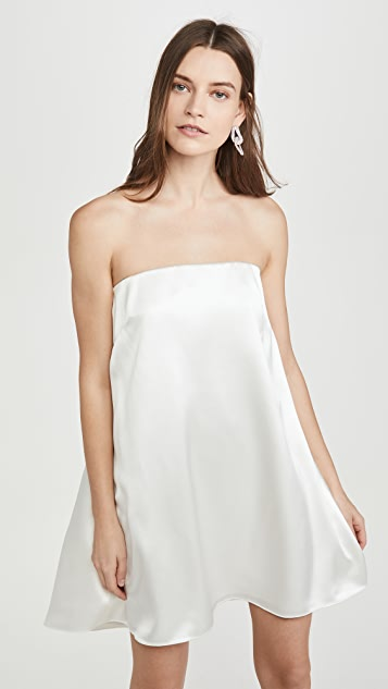 Brandon Maxwell Crepe Back Satin Cocktail Dress