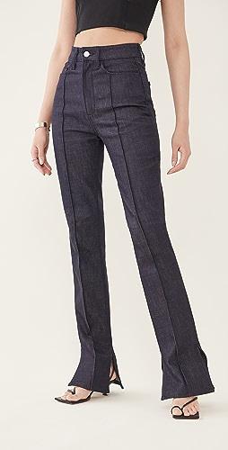 Brandon Maxwell - Dark Stretch Denim Jeans
