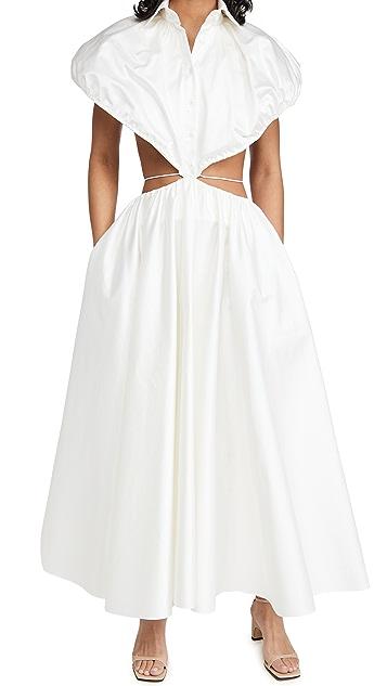 Brandon Maxwell 腰部镂空衬衣连衣裙