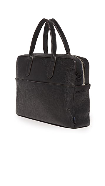 Uri Minkoff Pebbled Leather Fulton Briefcase