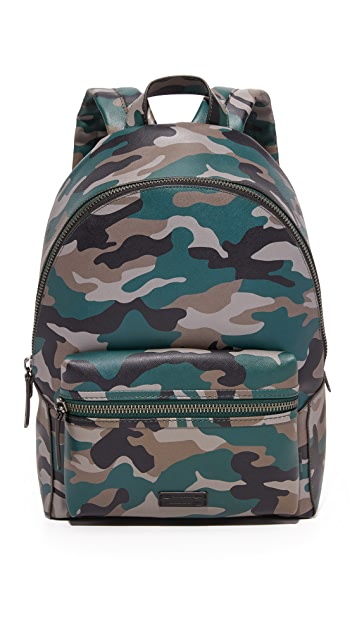 Uri Minkoff Camo Saffiano Leather Paul Backpack