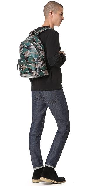 Uri Minkoff Camo Saffiano Leather Paul Backpack