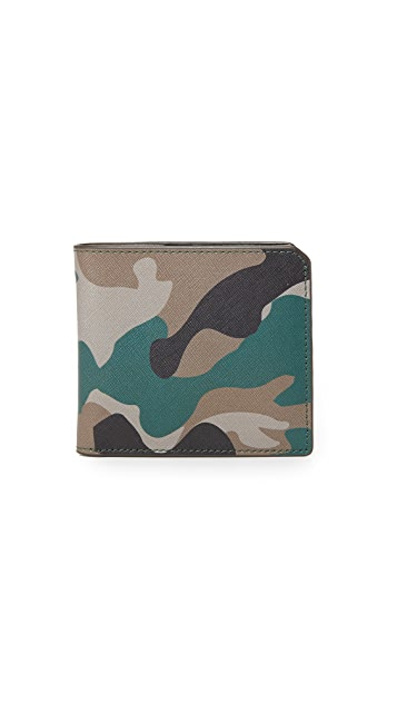 Uri Minkoff Camo Saffiano Leather Vesper Wallet