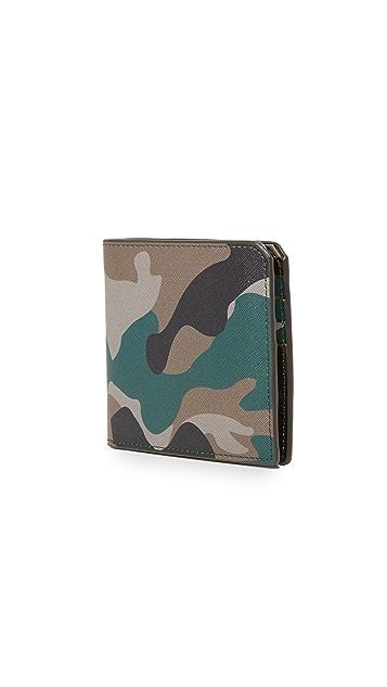 Uri Minkoff Camo Saffiano Leather Vesper Wallet
